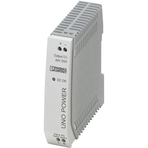 Phoenix Contact 2902991 UNO-PS/1AC DIN Rail Power Supply 24V DC 1.25A 30W