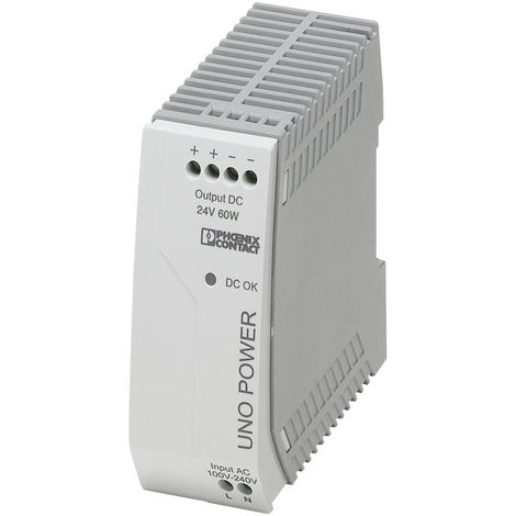 Phoenix Contact 2902992 UNO-PS/1AC DIN Rail Power Supply 24V DC 2.5A 60W