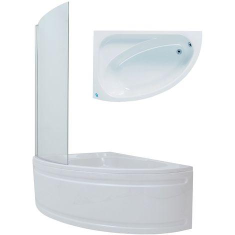 Phoenix Duo Acrylic Corner Bath inc Shower Screen 1500mm x 1000mm Right Hand