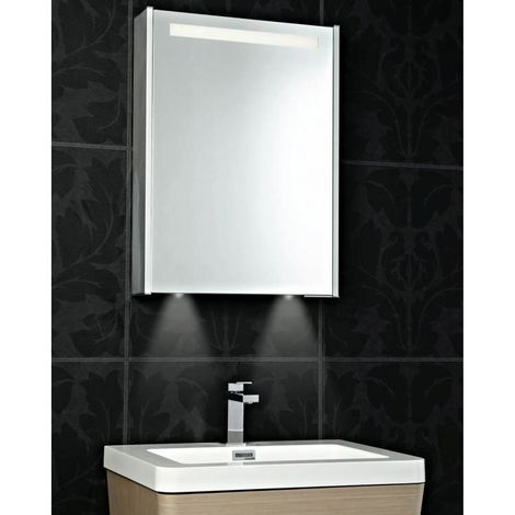 Phoenix Mercury Single Door Mirrored 700mm H x 520mm W x 120mm D Cabinet