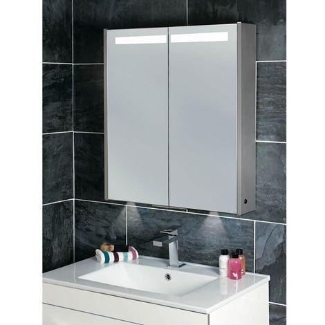 Phoenix Mercury Twin Door Mirrored 700mm H x 630mm W x 120mm D Cabinet