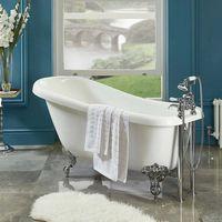 Phoenix Traditional Slipper Acrylic Freestanding Bath 1550mm x 730mm Single Ended
