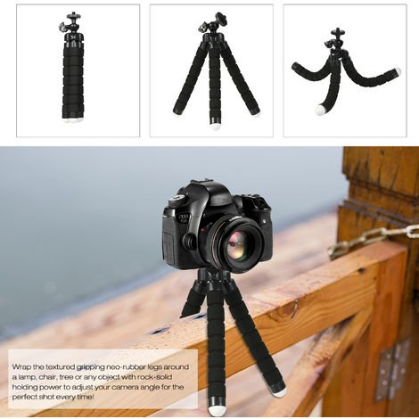 Phone Tripod Stand Portable Cellphone Camera Tripod Compatible with iPhone and Android Phone Great