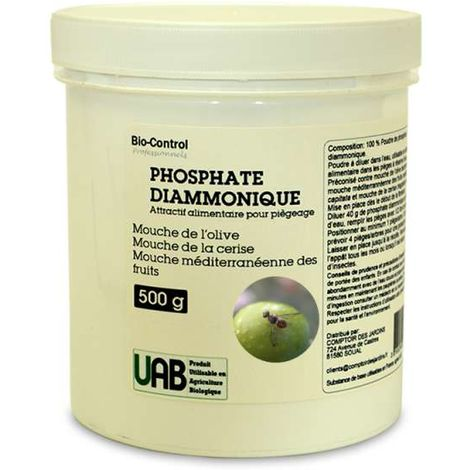 Phosphate diammonique attractif alimentaire de piégeage UAB. Pot 500