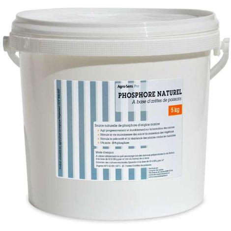 Phosphore organique naturel à base de farine de poissons. Seau de 5 k