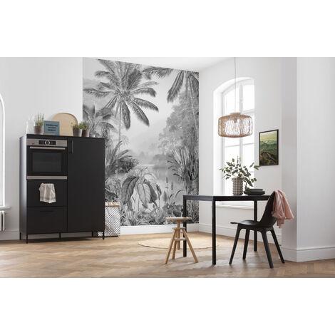 """main image of """"Photo murale intissée de Komar - Lac Tropical Black & White - Taille: 200 x 270 cm"""""""