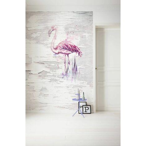 Photo murale intissée de Komar - rose vif Flamingo - Taille: 200 x 250 cm