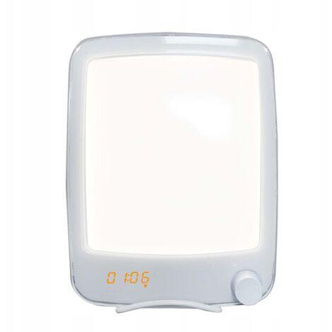 "main image of ""Phototherapy lamp, antidepressive lamp phototherapy light therapy and bright SAD, sunrise and sunset simulation, musical alarm clock, bionic solar lamp, white standard white"""