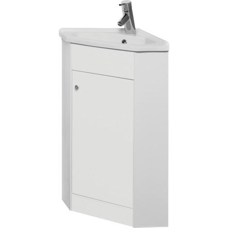 Piano Bad Waschtisch Unterschrank Ecke 40 Cm Weiss Hochglanz 1 Türig