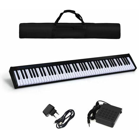 Piano Digital con 88 Teclas 128 Ritmos 128 Tonos 20 Demos Teclado Electrónico Función Bluetooth Interfaz MIDI, USB, MP3, Altavoz Externa, Auriculares, Micrófono