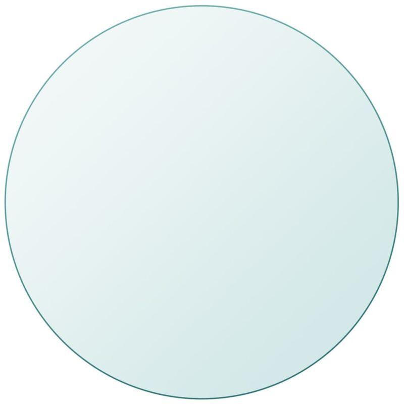 Copri Tavolo Cristallo.Piano Tavolo Rotondo In Vetro Temperato 500 Mm