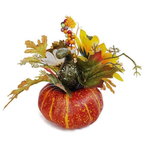 Pianta artificiale, decorazione di zucca