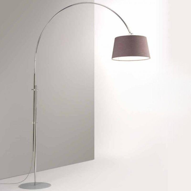 Piantana ad arco co-rise 137 e27 led metallo moderna lampada terra arco  paralume colorato interno