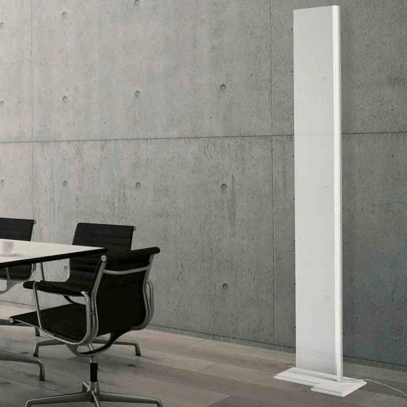 Piantana moderna cattaneo illuminazione plane 782 170t led 60w 7200lm 3000°k lampada terra dimmerabile plexiglass trasparente