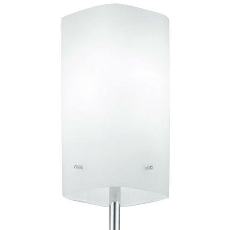 Piantana Metallo Paralume Vetro Bianco Lampada Da Terra Moderna E27 ...