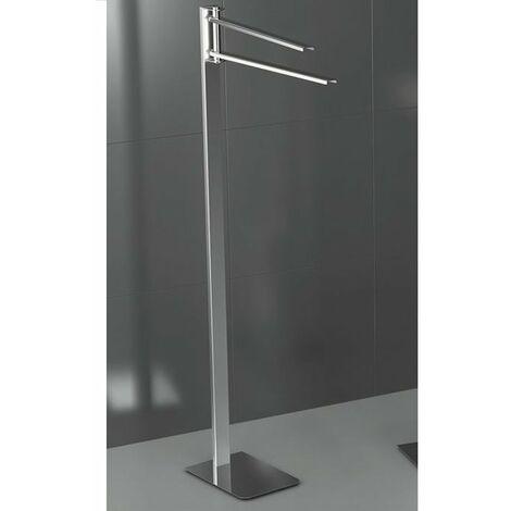 Completo con Tappo Chic in Acciaio Satinato InCasa Porta Asciugamani /Ø 20 mm 60 cm L