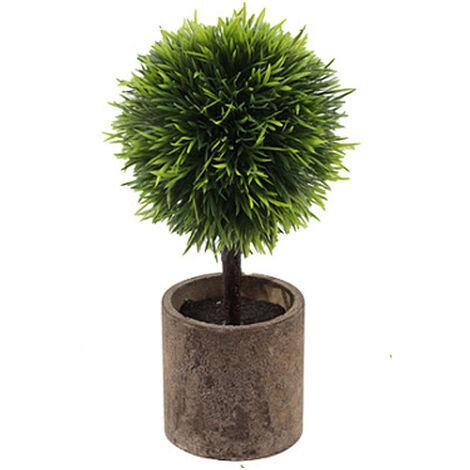 Piante artificiali, piante verdi artificiali, decorazione floreale artificiale, piante in vaso, decorazione della finestra dei bonsai a casa B