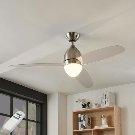 Piara ceiling fan with light, clear