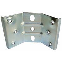 Piastra angolare h 85 mm per fissaggio gamba tavolo in legno