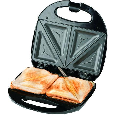 Piastra Elettrica Acciaio Antiaderente 750W Bistecchiera Toast e Sandwich Dunlop