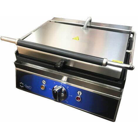 Piastra elettrica professionale 1.8 kw per panini griglia in ghisa 16 righe