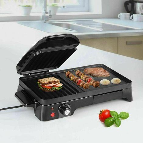 Barbecue Elettrico Griglia Bistecchiera Esterno Giardino Carne 2200W Antiaderent