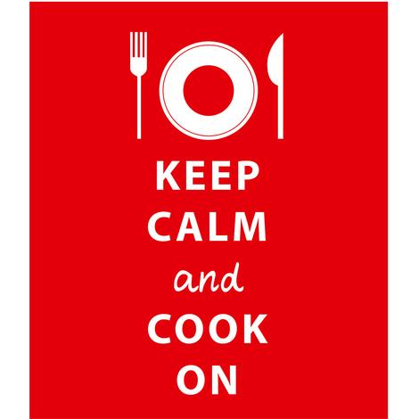 Piastra para Schizzi per Piani Cottura Keep Calm