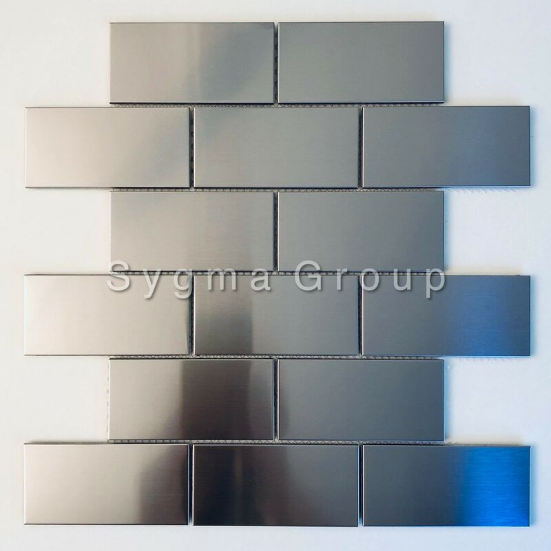 Sygma Group - piastrella da rivestimento in acciaio inox per parete della cucina modello LOFT