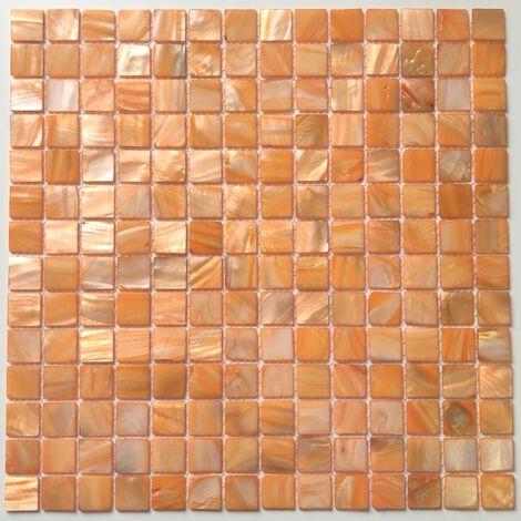Piastrella e mosaico in madreperla per bagno e doccia Nacarat Orange