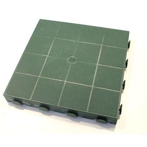 Piastre Da Giardino In Plastica.Piastrella Mattonella In Plastica Modulare Cm 39x39 Per