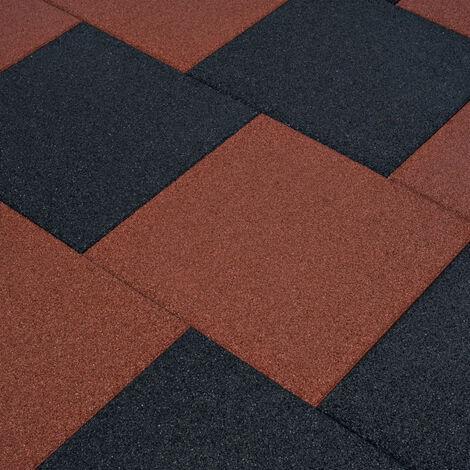 Piastrelle Anticaduta 12 pz in Gomma 50x50x3 cm Rosse