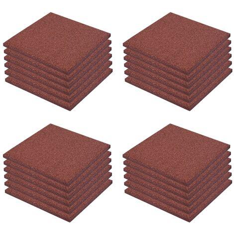 Piastrelle Anticaduta 24 pz in Gomma 50x50x3 cm Rosse