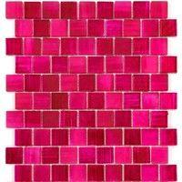 piastrelle di vetro mosaico a parete e pavimento mv-drio-rose