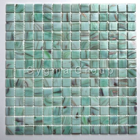 Piastrelle e mosaico di vetro in bagno e cucina Speculo Celadon