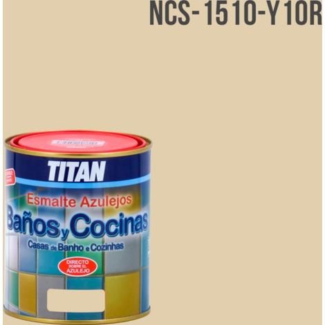 Piastrelle pittura per bagni e cucine Titan | 750 ml - 1510-Y10R NCS -
