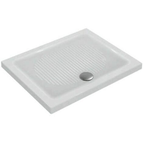 Piatto doccia 100X80 cm in ceramica Ideal Standard Connect bianco antiscivolo   Bianco