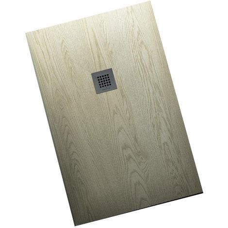 Piatto Doccia 100 X 90 Ceramica.Piatto Doccia 100x90 Effetto Legno Realizzato In Marmo Resina Relax