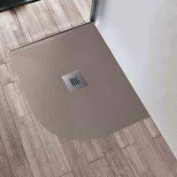 Piatto doccia 70x90 90x70 80x100 100x80 sabbia ardesia mineral marmo semicircolare tondo rettangolare 3cm