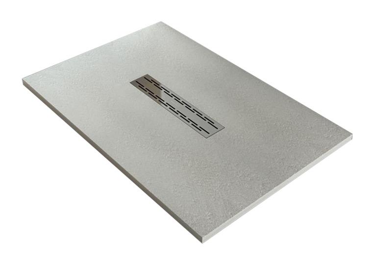 Piatto doccia flat in marmoresina semicircolare ultrasottil