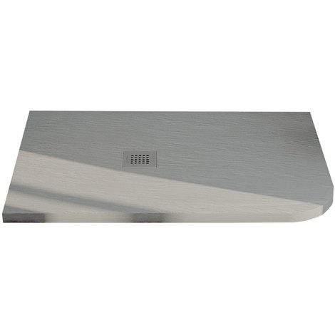 Piatto Doccia Angolare 80x90.Piatto Doccia 80x90 Semicircolare Effetto Ardesia Realizzato In Marmo Resina Relax Design Rocky