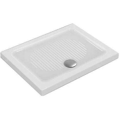 Piatto doccia 90X70 cm in ceramica Ideal Standard Connect bianco antiscivolo   Bianco