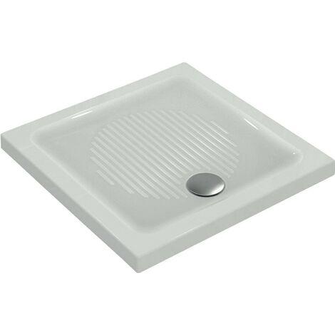 Piatto doccia 90X90 cm in ceramica Ideal Standard Connect bianco antiscivolo   Bianco