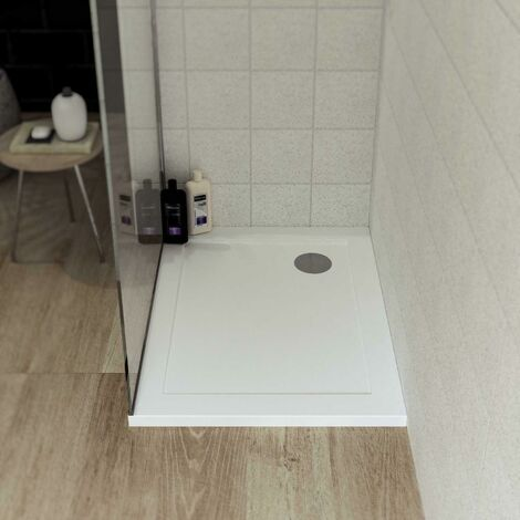 Piatto doccia acrilico bianco lucido vetroresina h 3,5cm