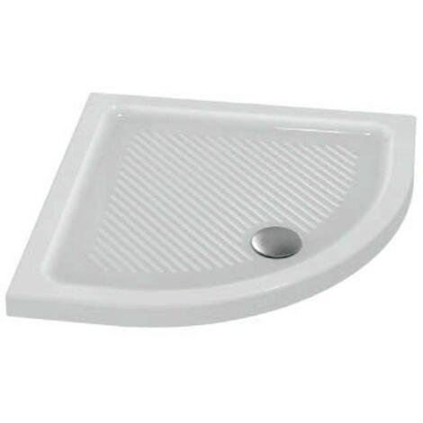 Piatto doccia angolare 90X90 cm in ceramica Ideal Standard Connect bianco antiscivolo   Bianco