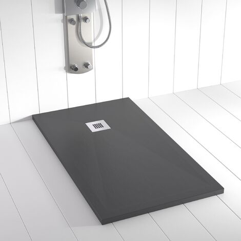 Piatto doccia ardesia pietra PLES 80x70 cm - Antracite