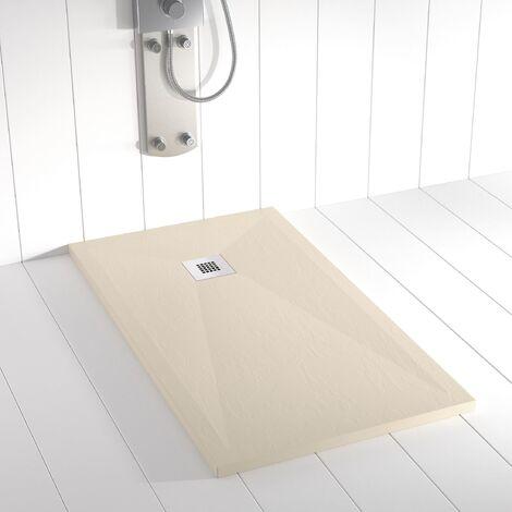 Piatto doccia ardesia pietra PLES 80x70 cm - Crema