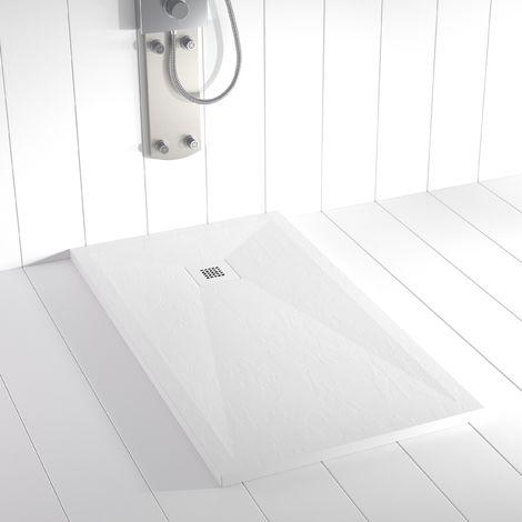 Piatto doccia ardesia pietra Stone PLES Bianco (griglia colorata)