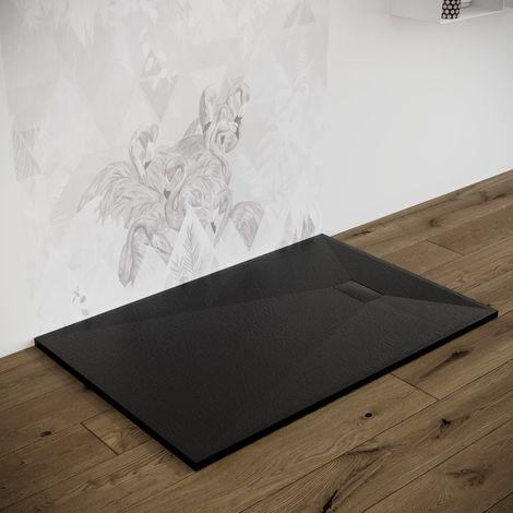 Piatto doccia effetto pietra ardesia stone smc piletta inclusa 70X100 Euclide spessore 2,6 cm