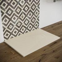 Piatto doccia effetto pietra smc resina piletta inclusa 90X140 beige spessore 2,6 cm. Euclide