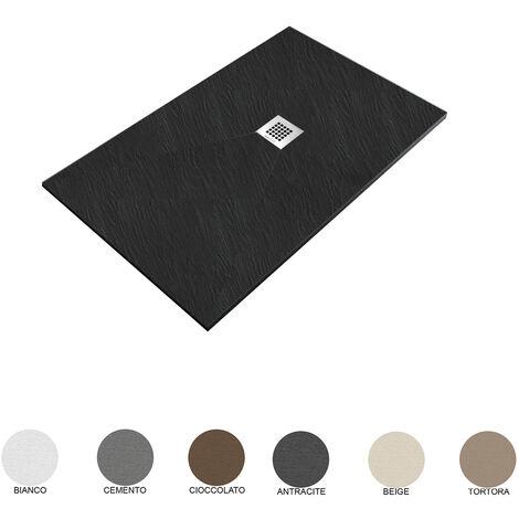 Piatto Doccia filo pavimento 75x110 H 2,5 cm Easy effetto ardesia